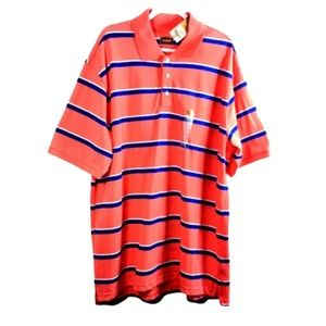 NWT Foundry Supply Mens 2XLT Polo Shirt Coral Blue